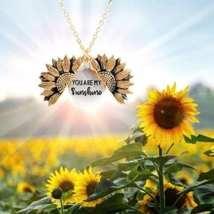 Layered YOU ARE MY SUNSHINE Sunflower Necklace